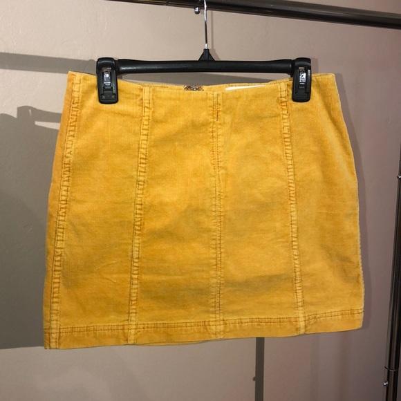 fca8df8a5 Skirts   Mustard Yellow Corduroy Mini Skirt Size Large   Poshmark